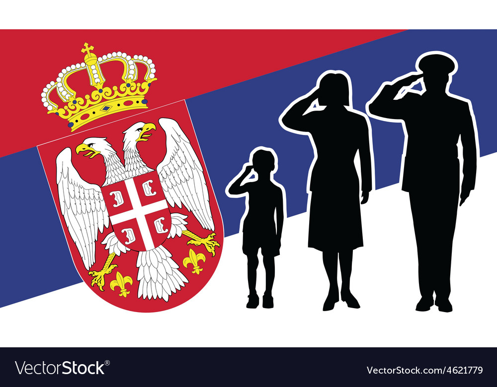 Serbia soldier family salute