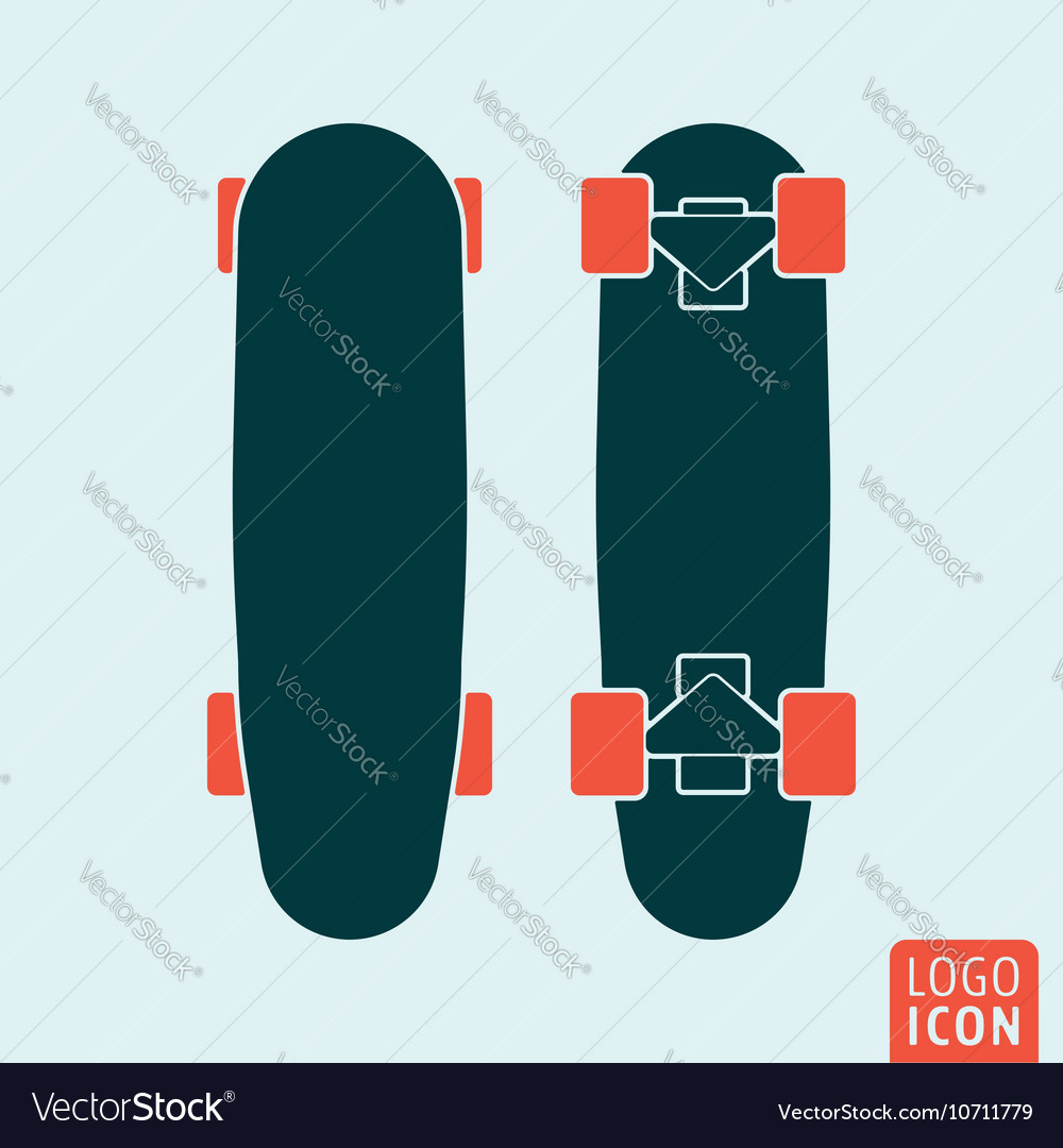 Skateboard icon isolated