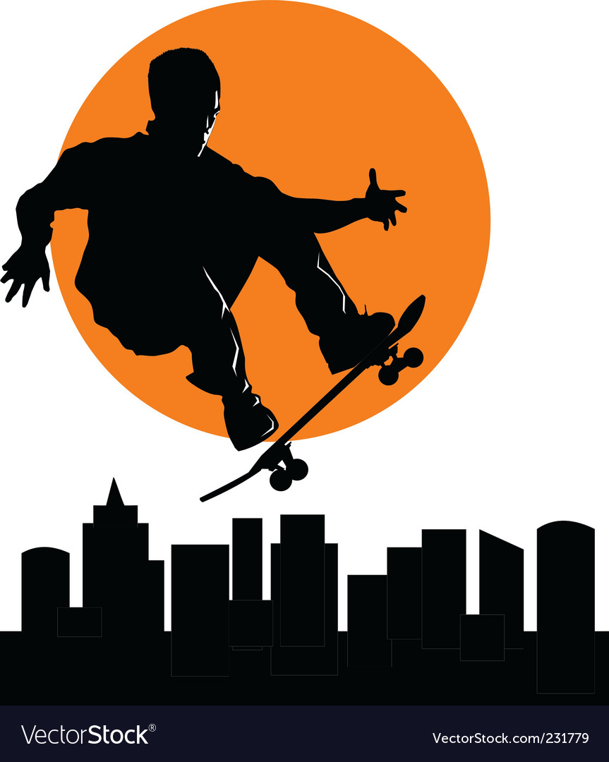 Skateboard vector image