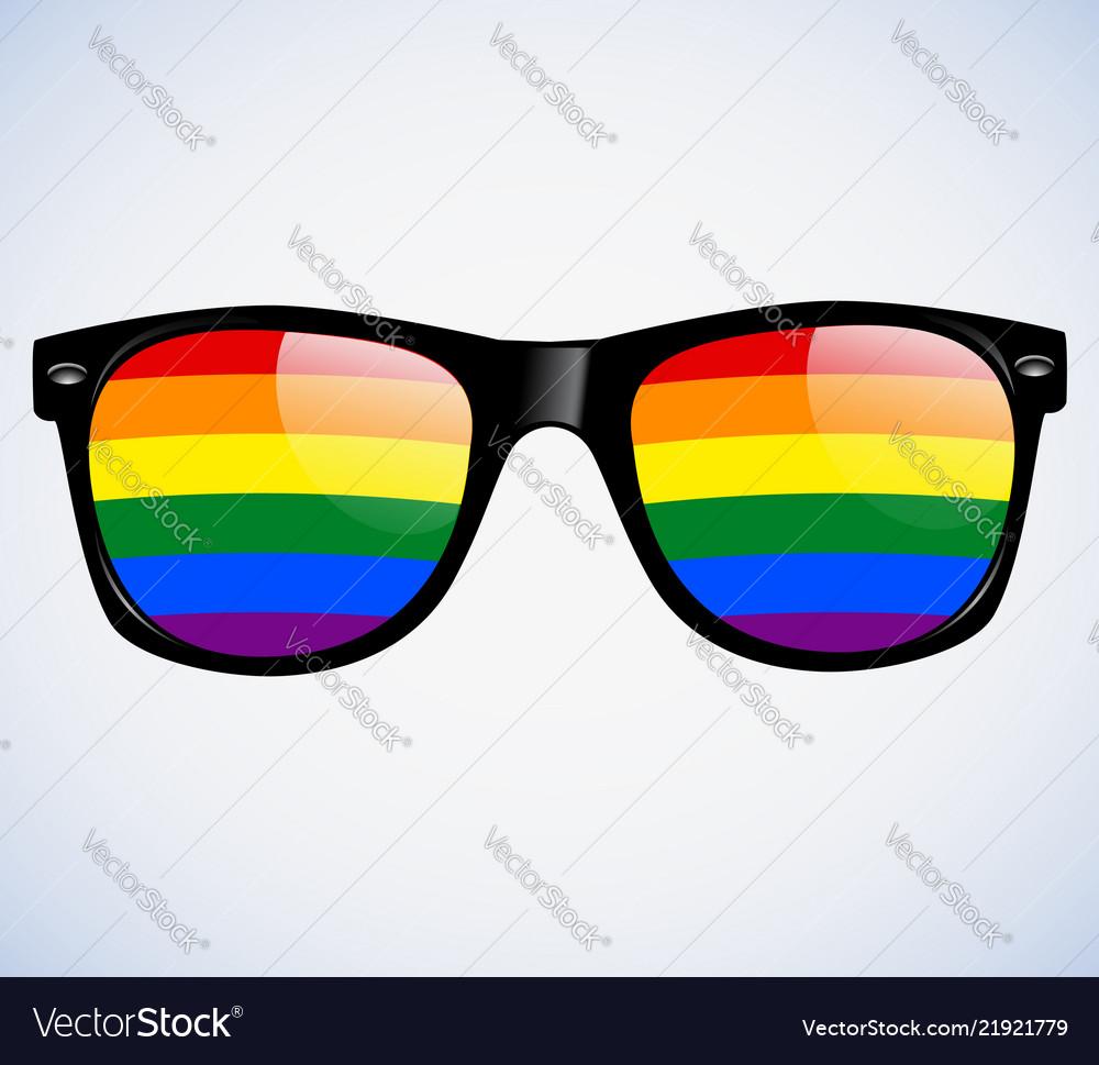 Sunglasses abstract rainbow lenses