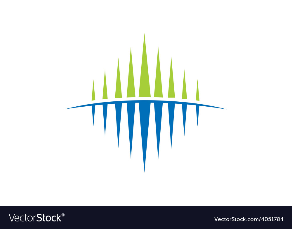 Business abstract flow geometry sound wave logo vector image