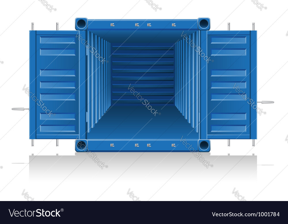 Cargo container 04 vector image