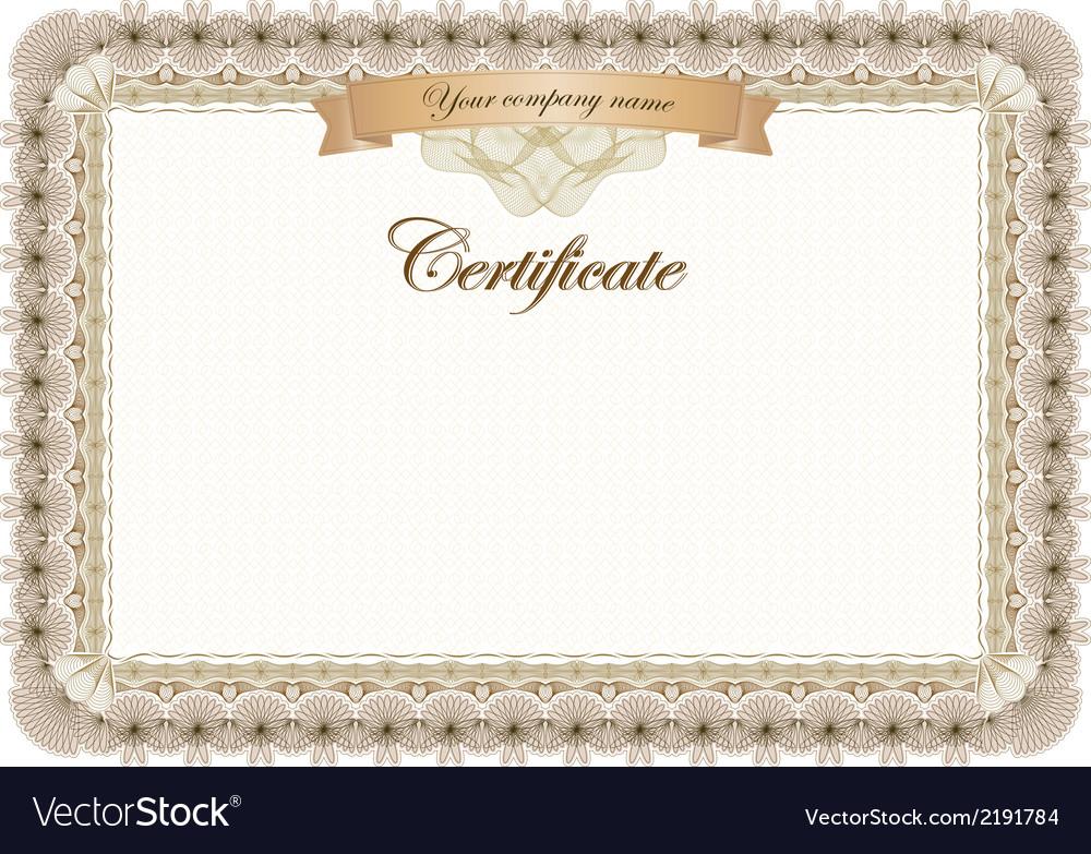 Certificate vintage graduate diploma