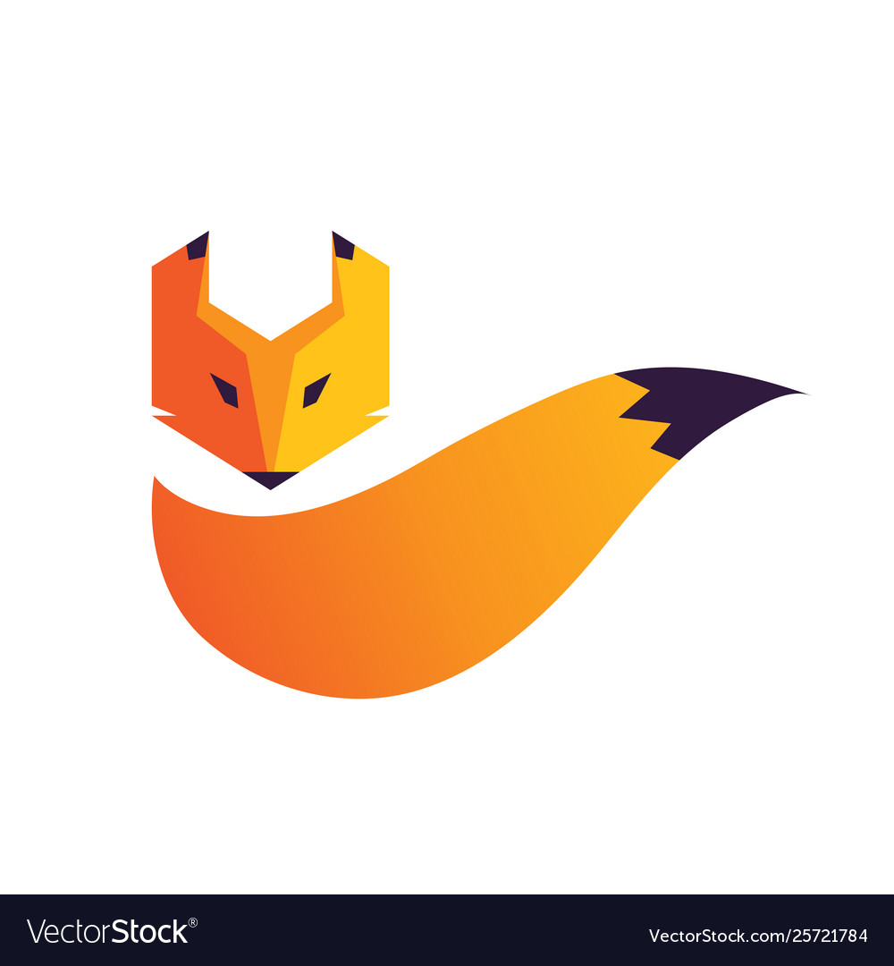 Fox head and tail logo