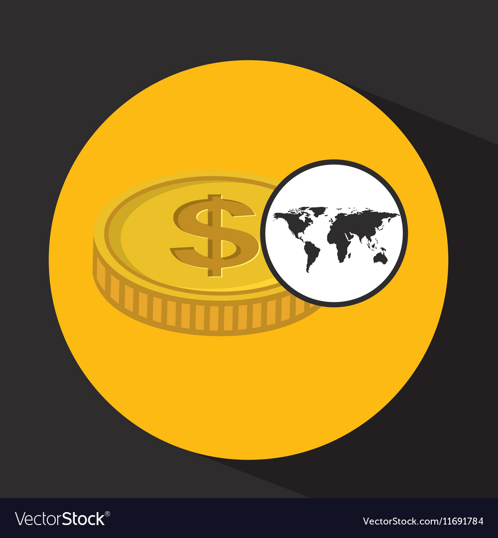 Global business currency concept icon