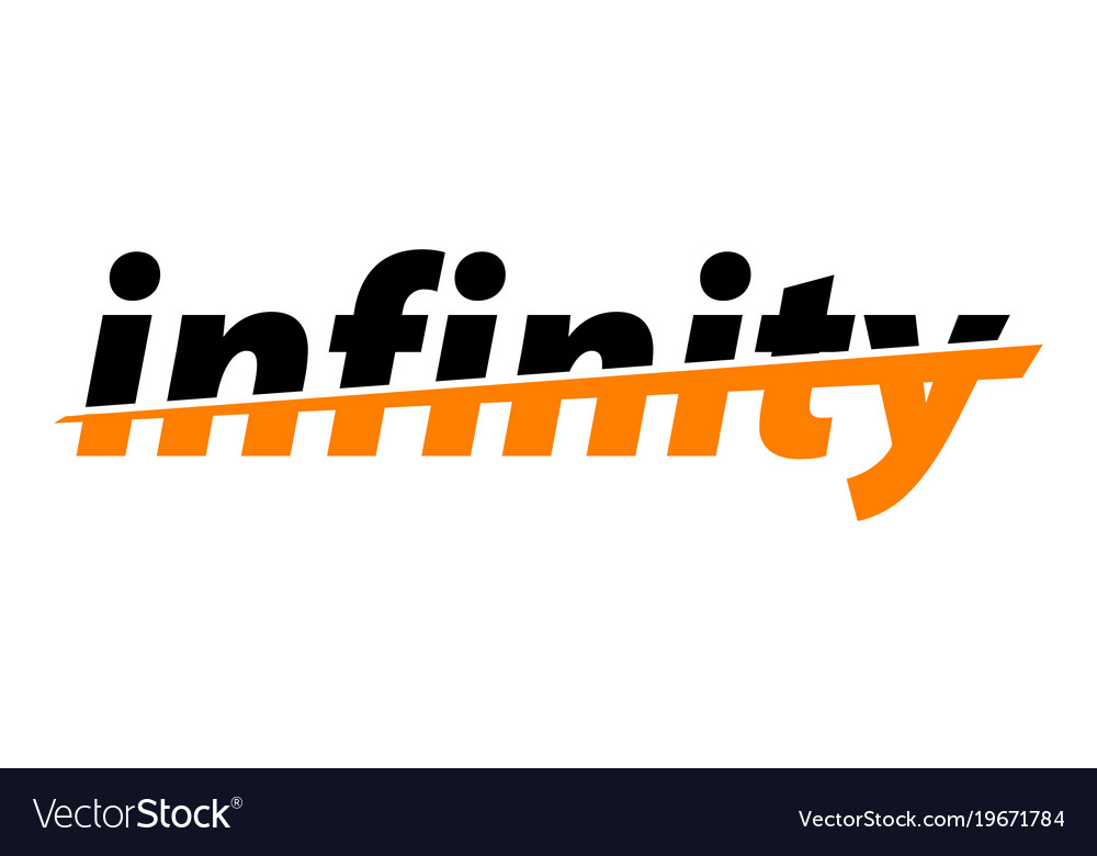 infinity word emblem royalty free vector image