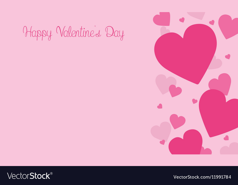 love on pink backgrounds for valentine days vector image