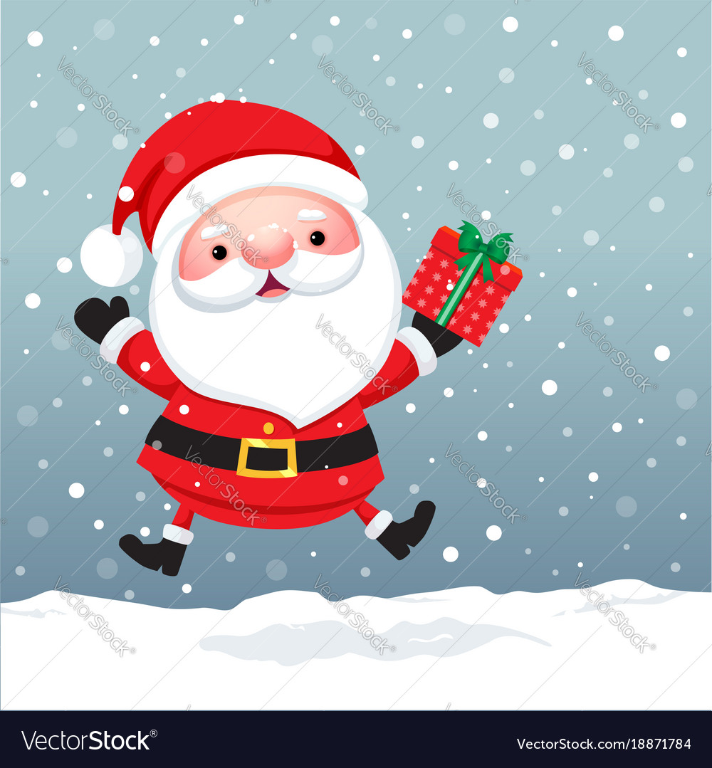 Santa claus cartoon character for christmas cards