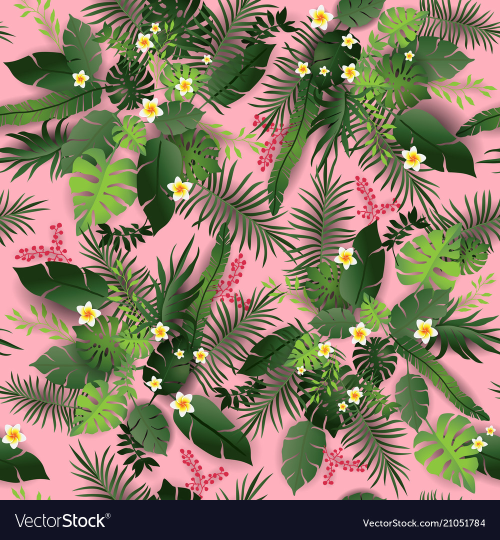 Seamless pattern pink vector
