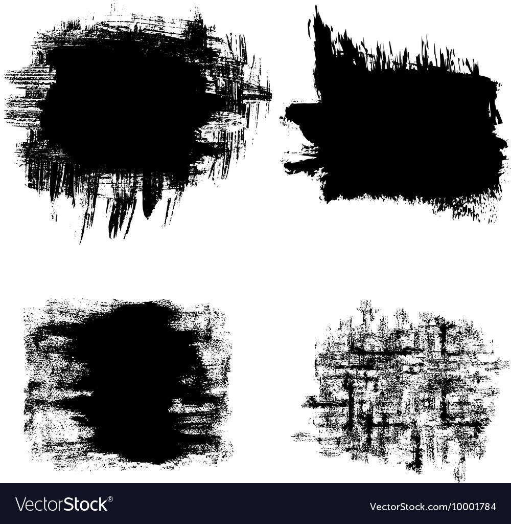 Set of black grunge banners vector image