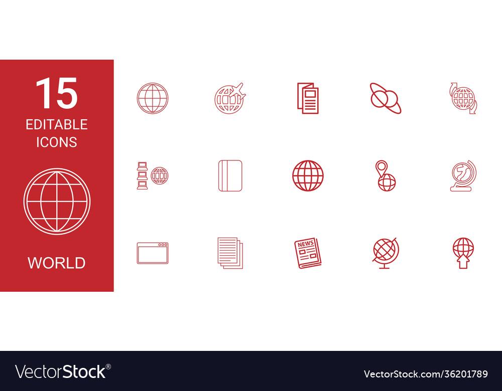 15 world icons