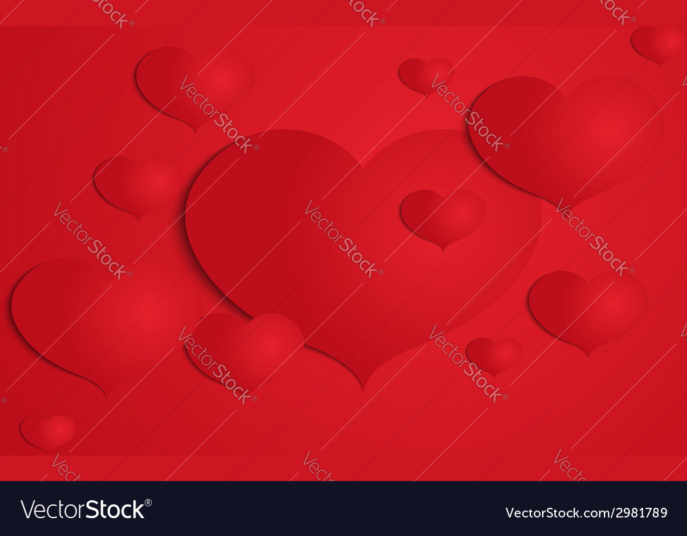 Abstract paper heart background