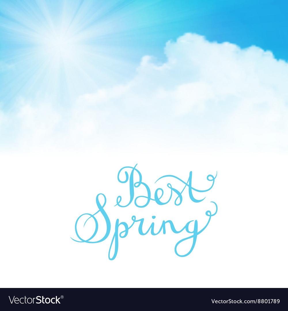Best spring vector image