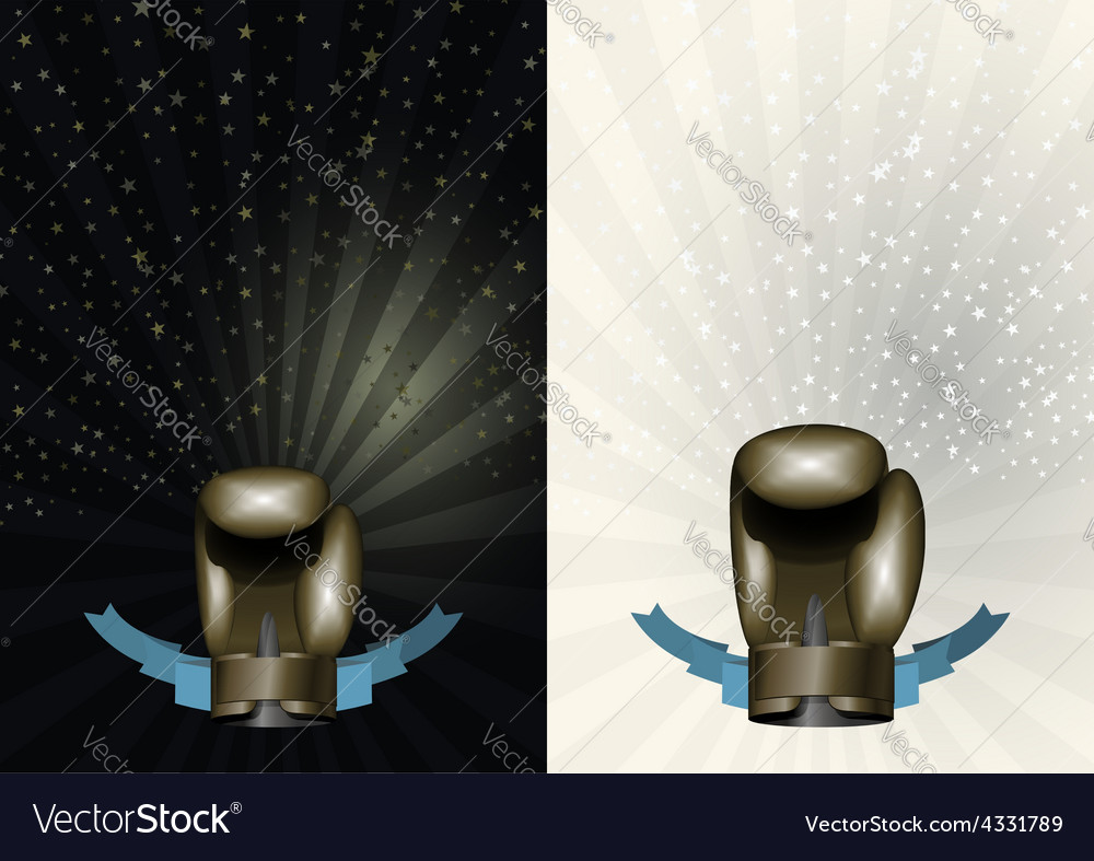 boxing gloves template for championship awards vector image