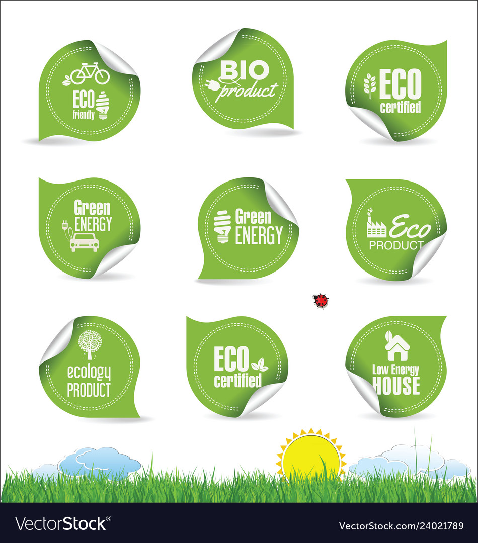 Collection of organic bio natural labels