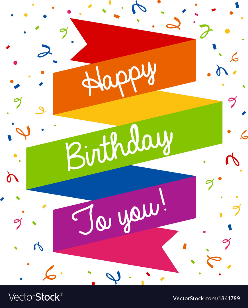 Happy Birthday Greeting Card Royalty Free Vector Image
