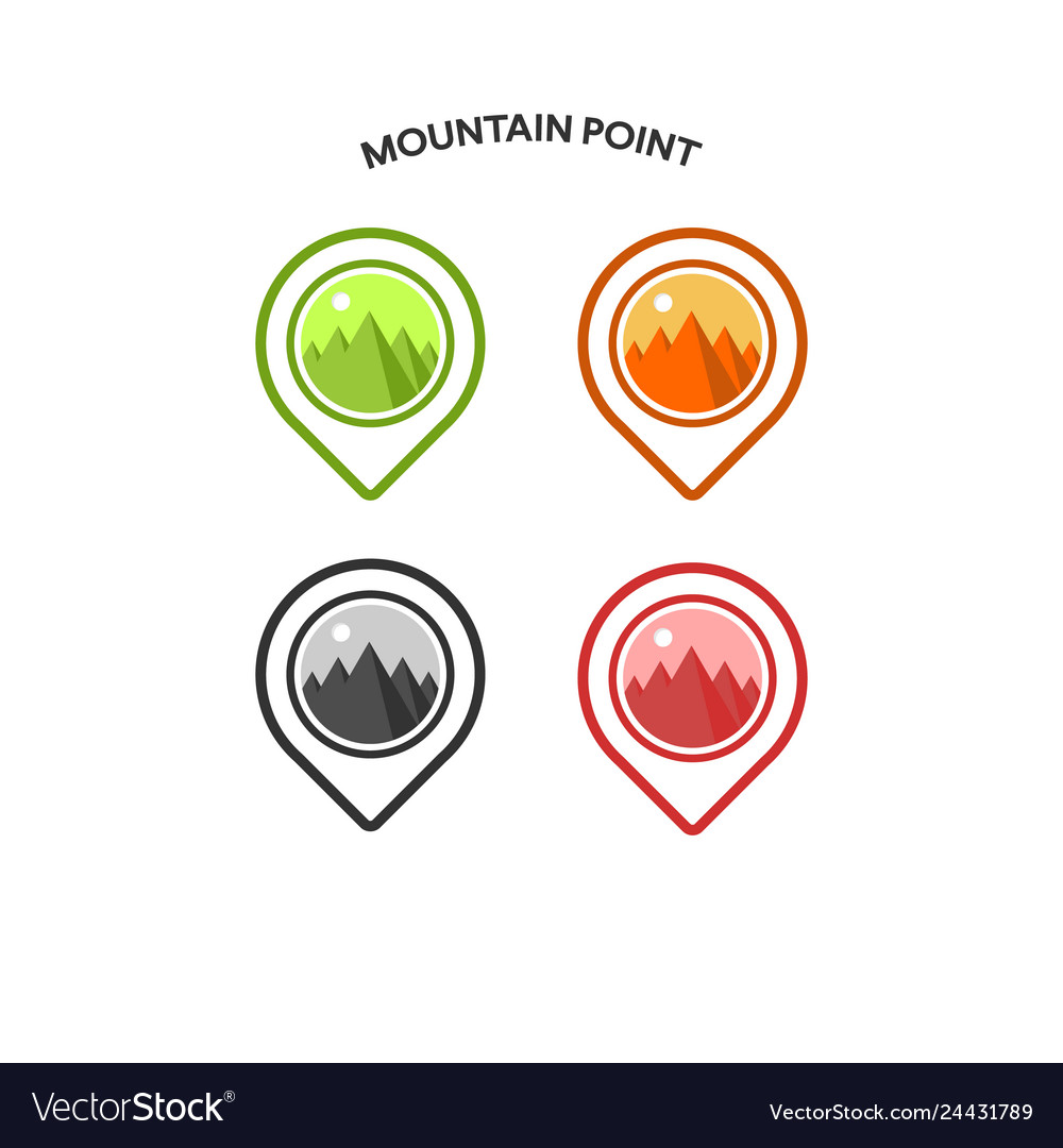 Inspiration for mountain design logo and pin