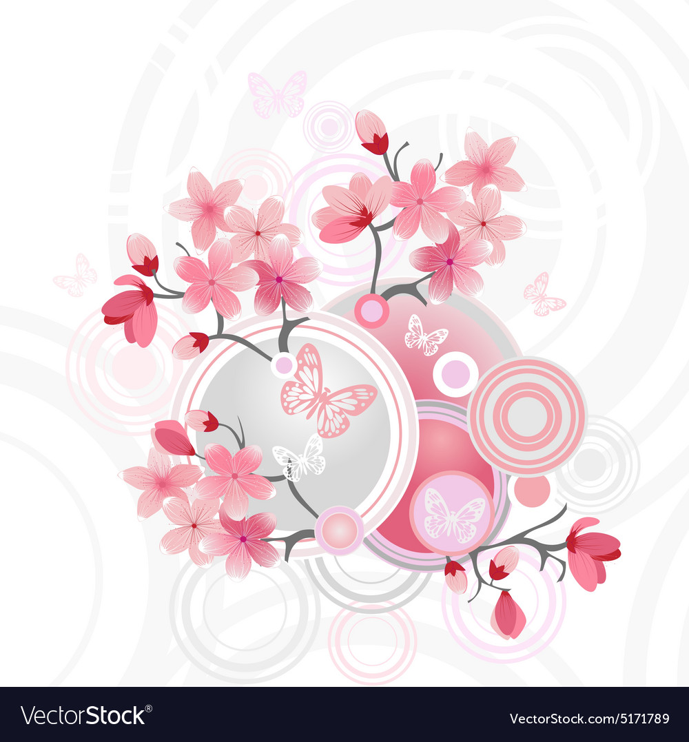 Anese Cherry Blossom For Your Design Vector Image