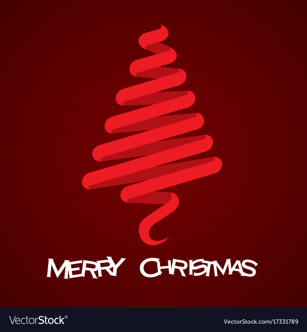 Merry christmas tree design