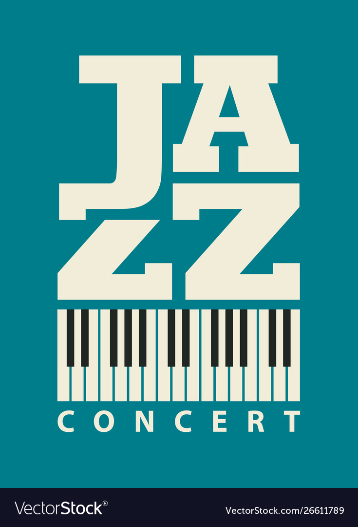 Music poster for a jazz concert with piano keys