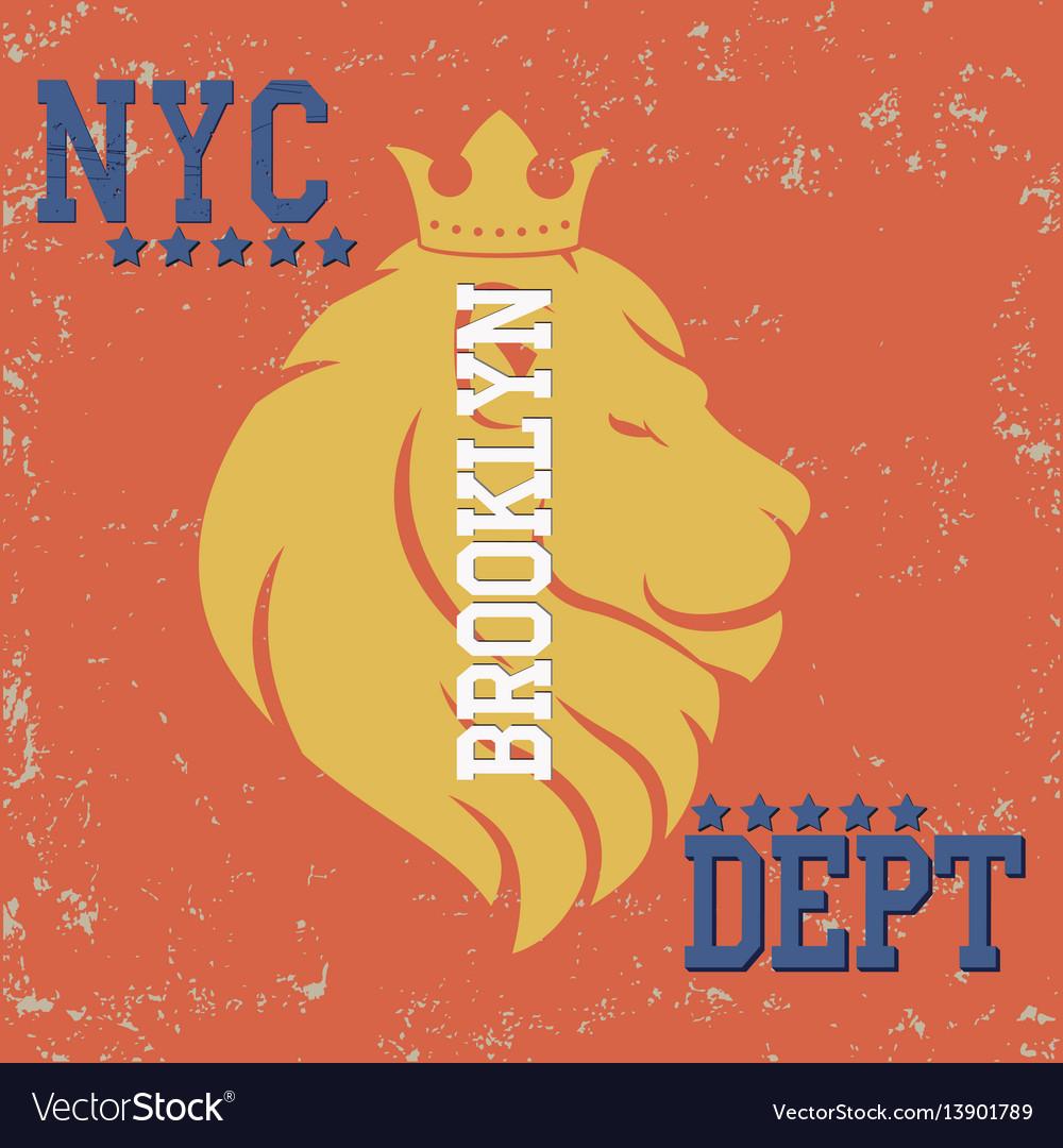 New york typograph vector image