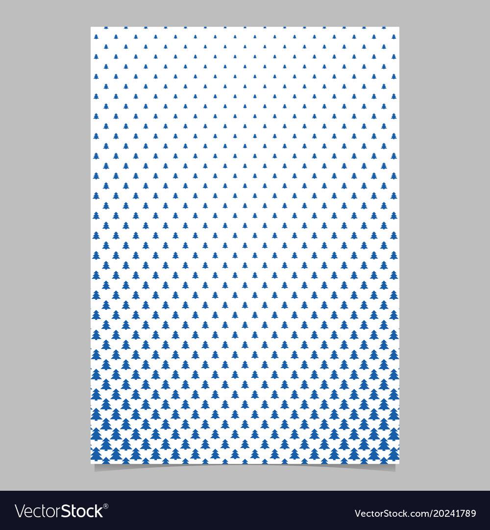 Pine tree pattern brochure backgeround design