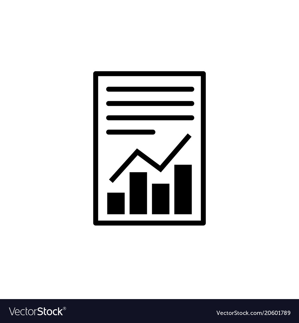 Report text file icon document with chart symbol