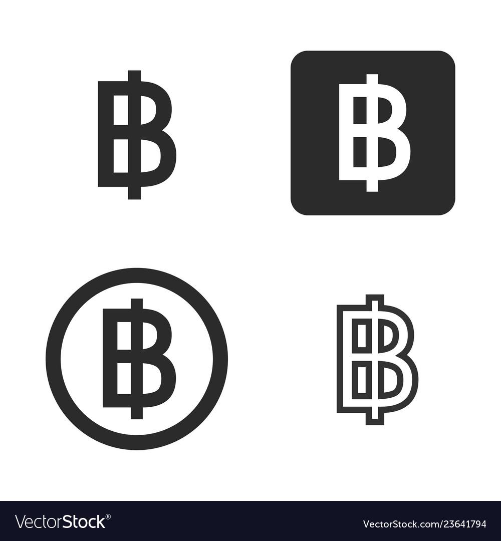 Baht currency symbol set