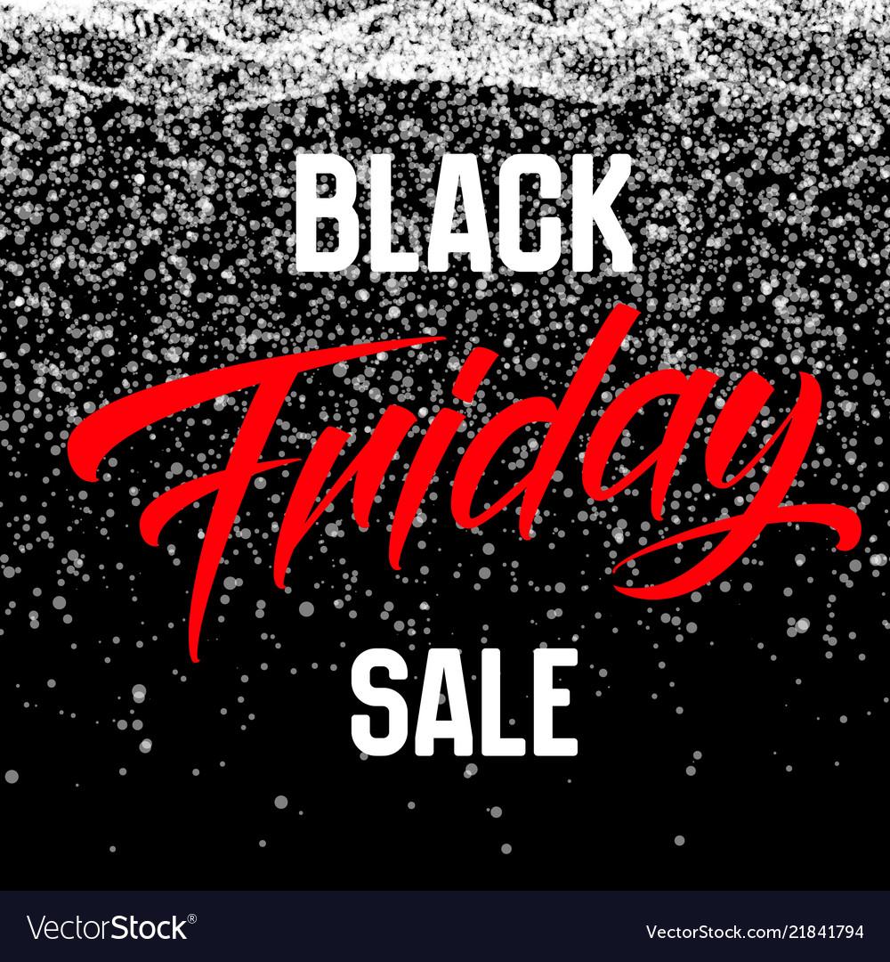 Black friday sale background with shining