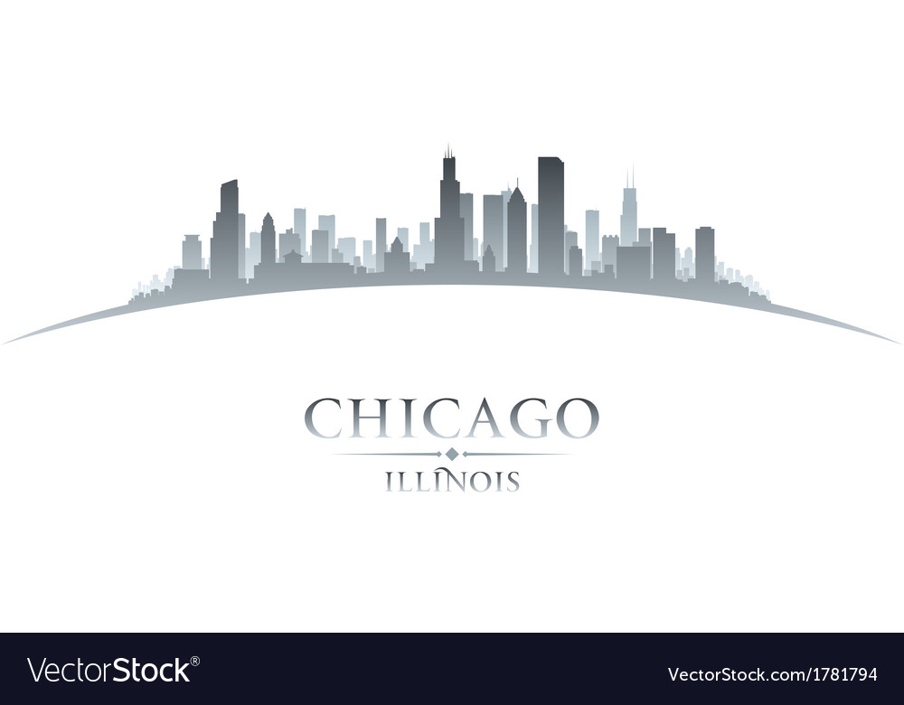 Chicago Illinois city skyline silhouette