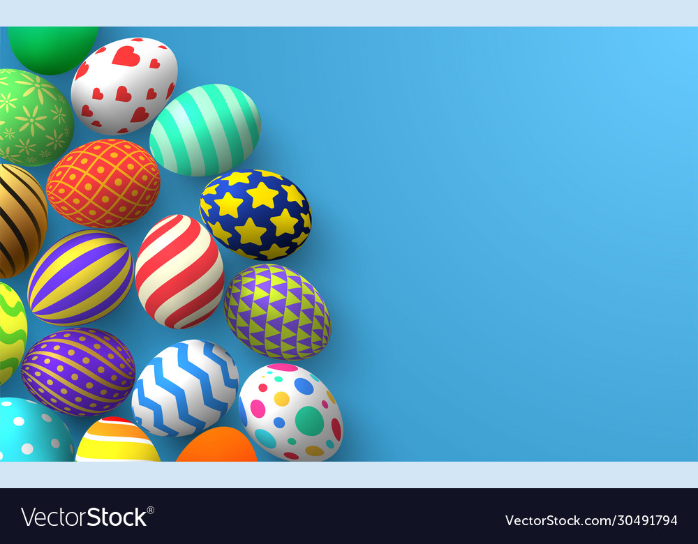 Easter background colorful traditional decoration