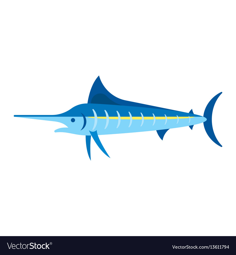 Flat style of marlin