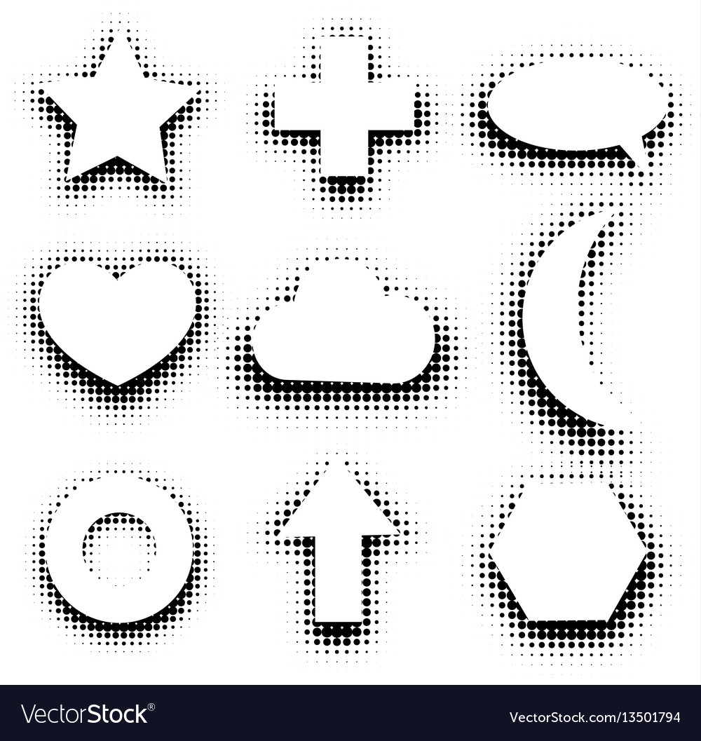 Isolated black and white color abstract dotted