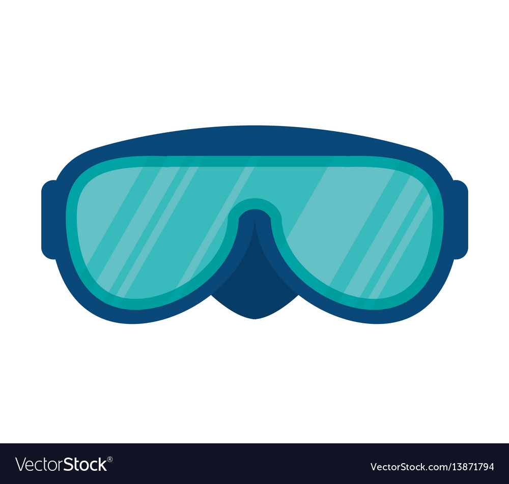 Snorkel glasses isolated icon