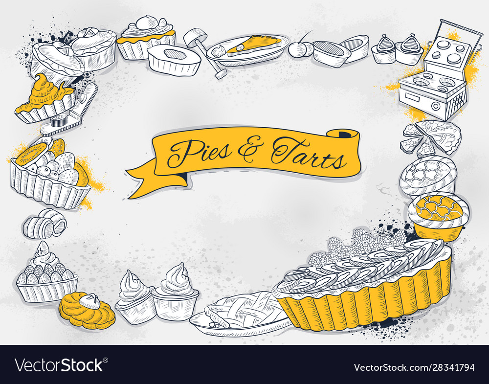 Template different types pie and tart