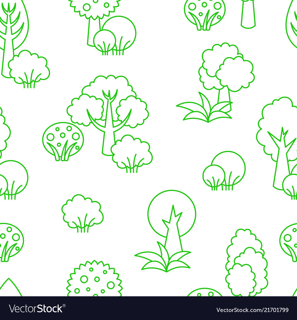 Background seamless pattern trees