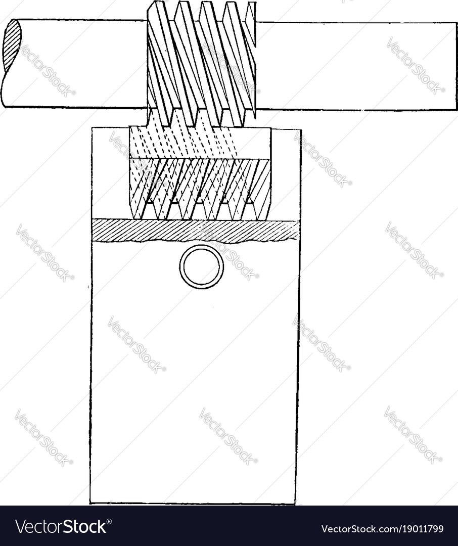 Cutting triple worms screw vintage
