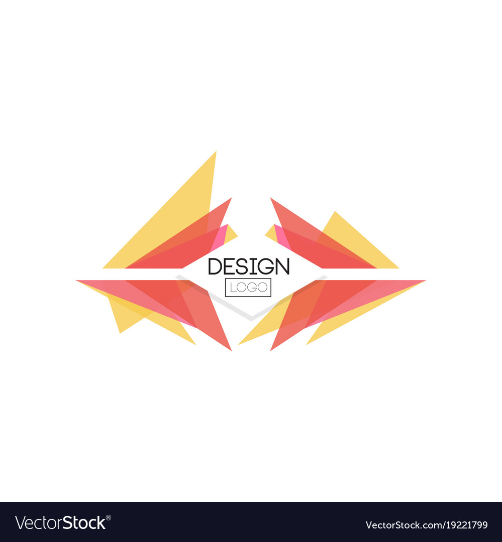 Design logo template abctract badge for company