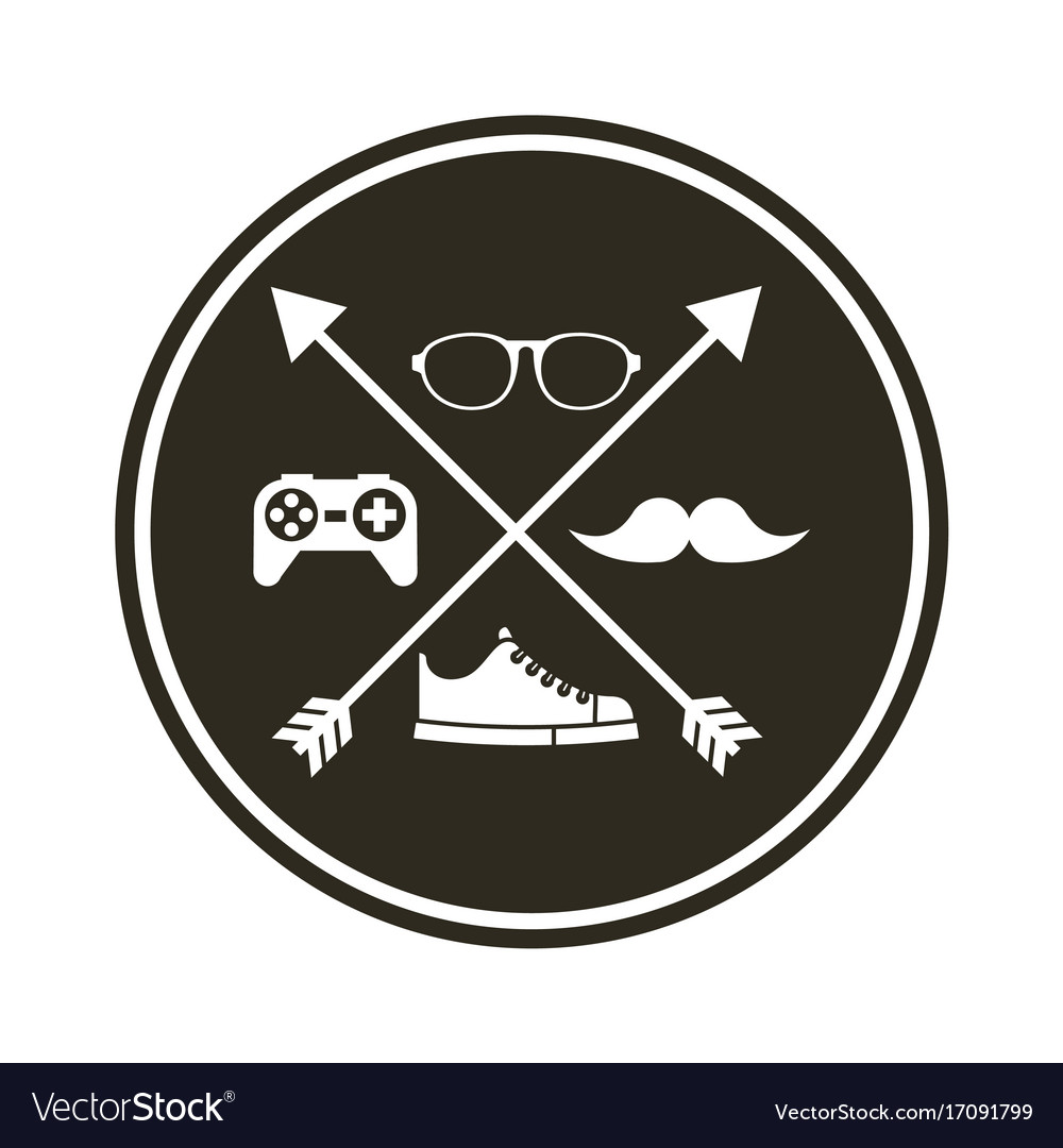 8d030180d6 Frame hipster style isolated icon Royalty Free Vector Image