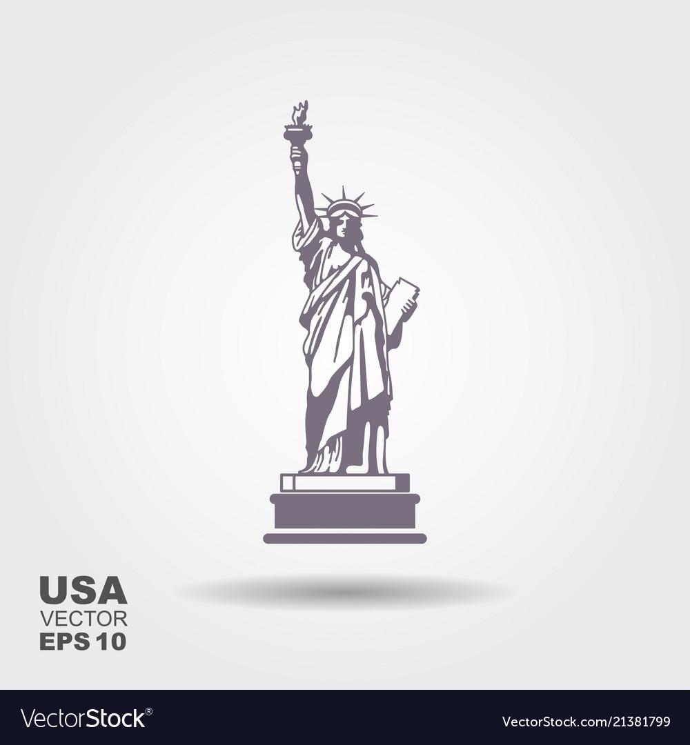 Liberty statue icon