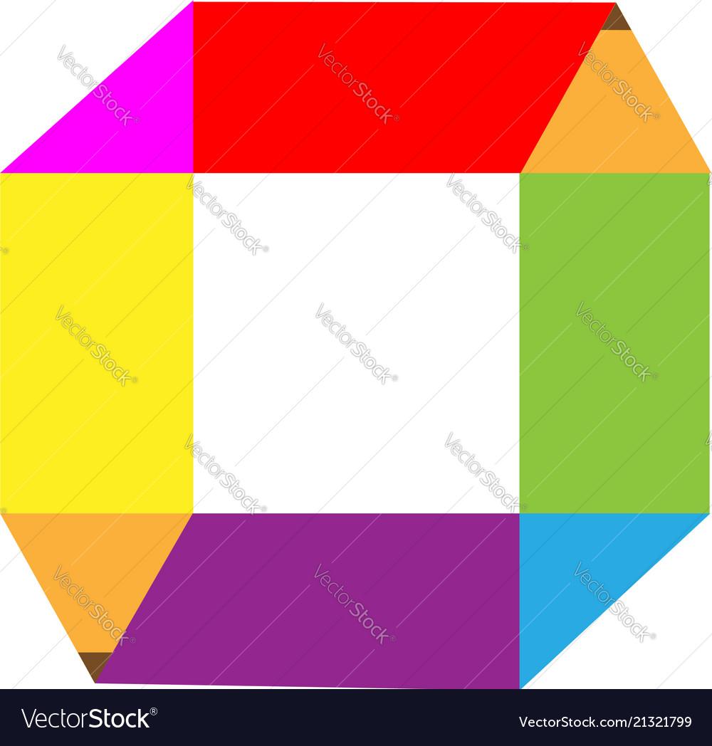 Pencil square shape logo