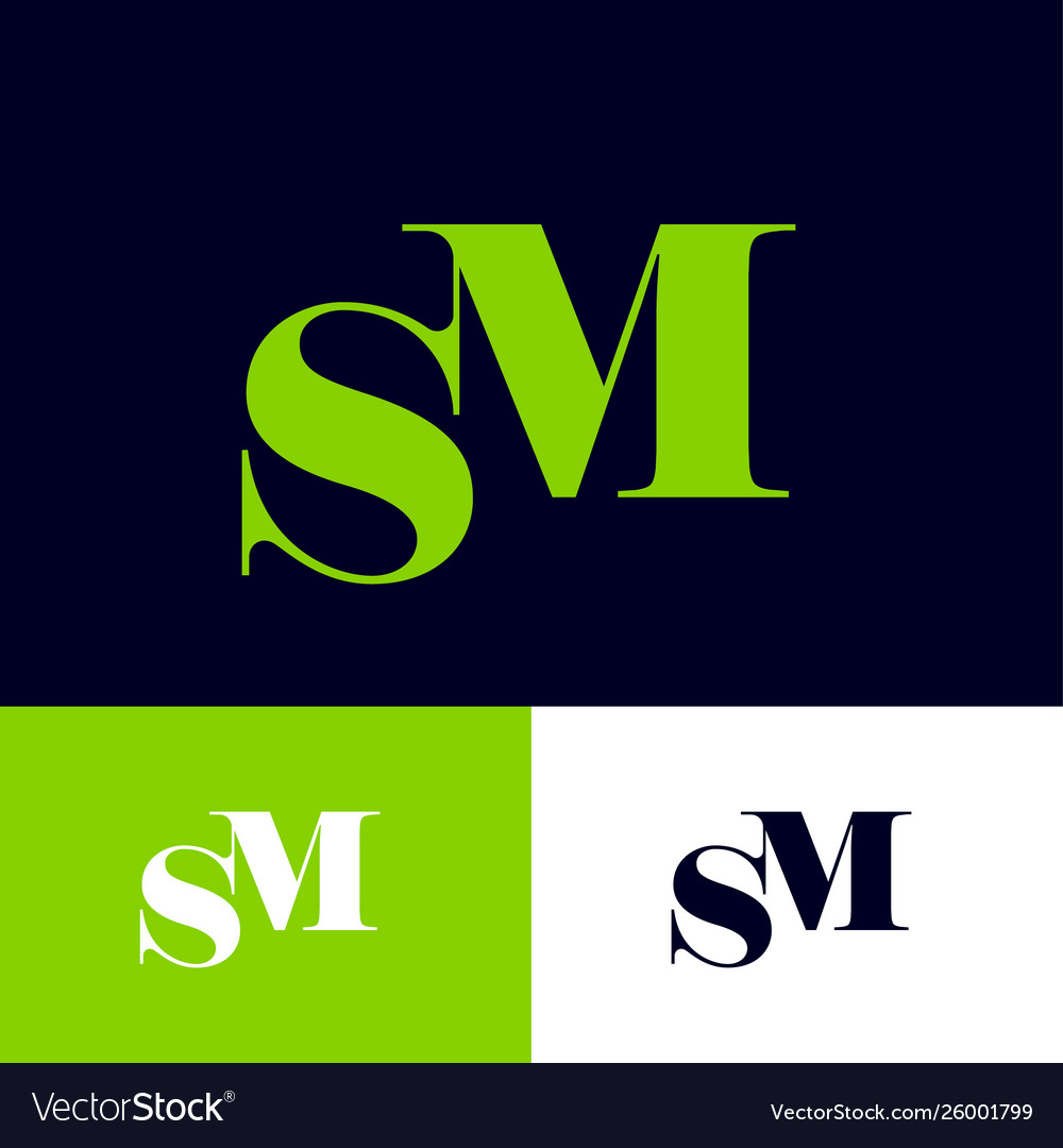 S and m monogram letters combined