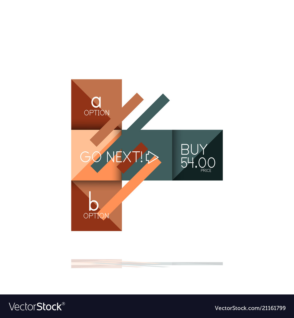 Square option infographic banner data and