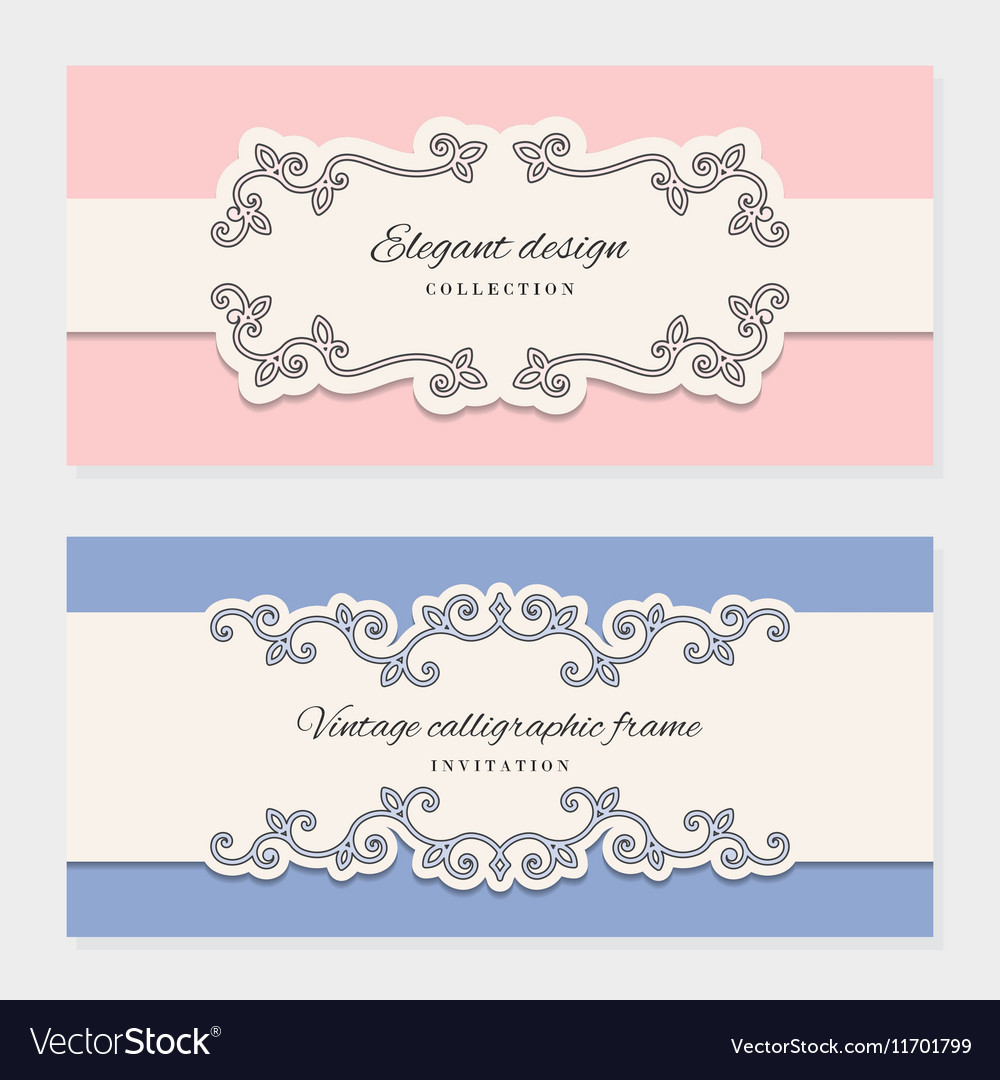 Vintage card templates For wedding invitations