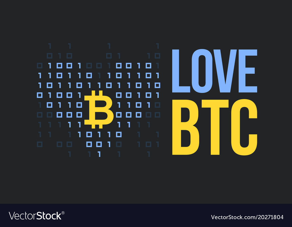 Concept for bitcoin lover