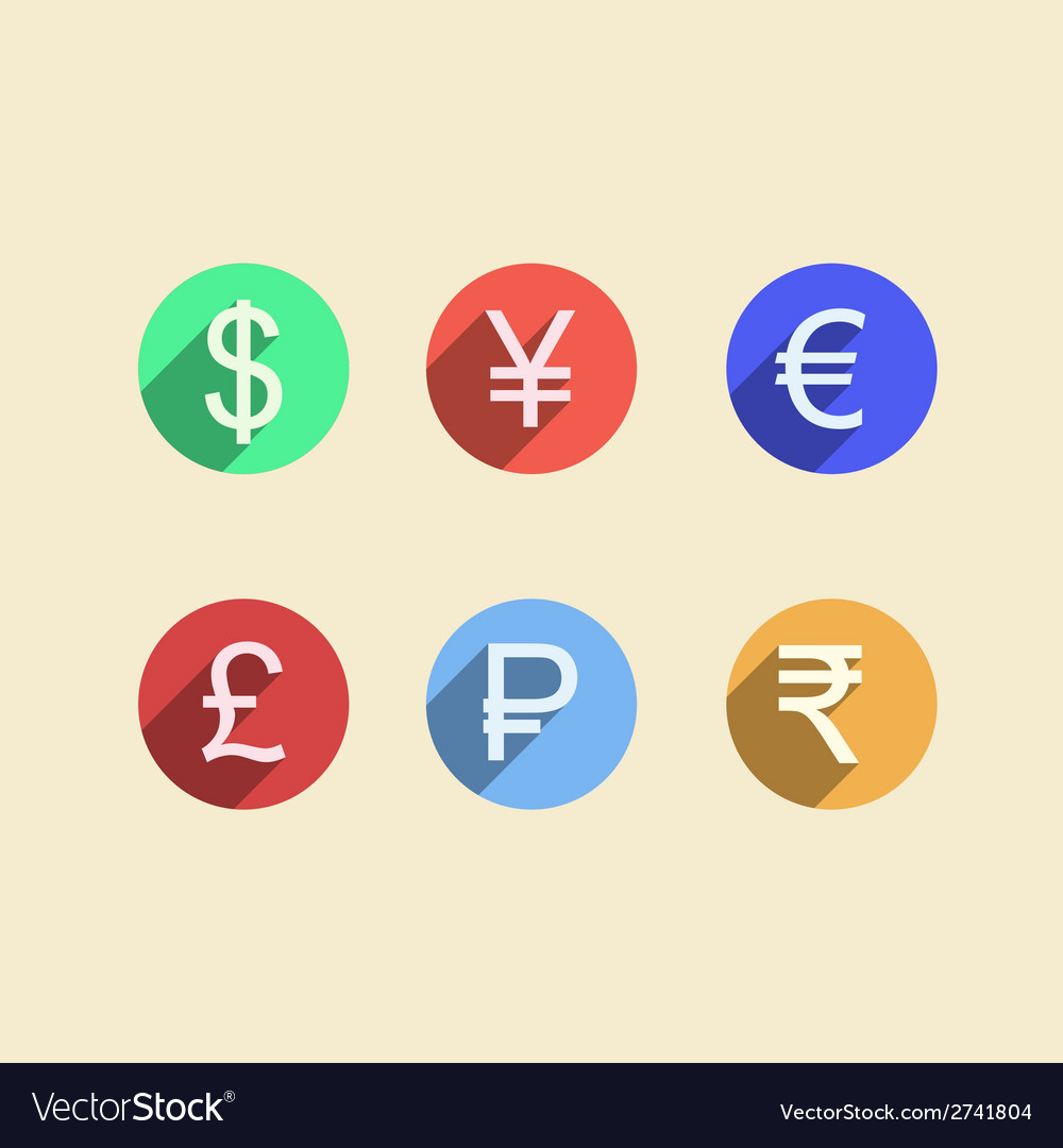 Flat icons for moneymaker vector image