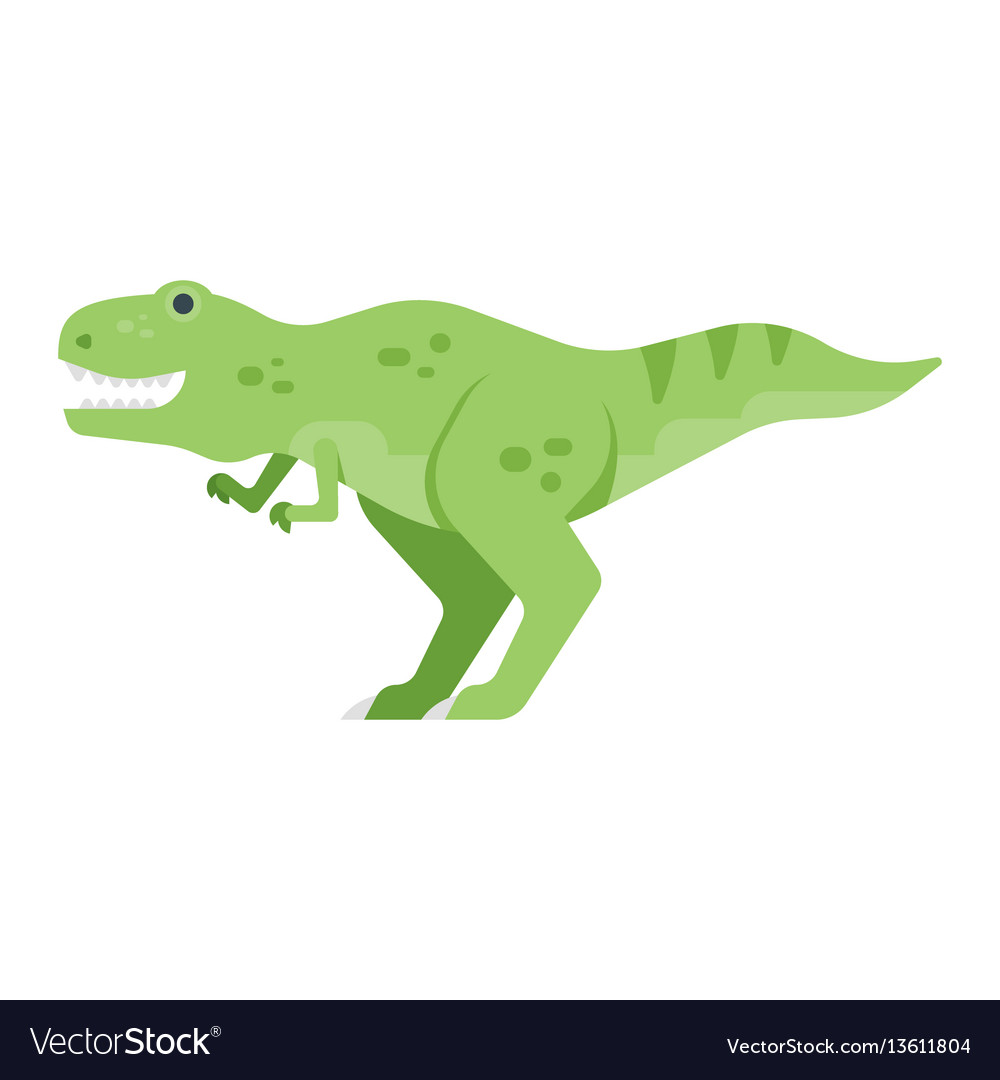 Flat style of dinosaur vector image