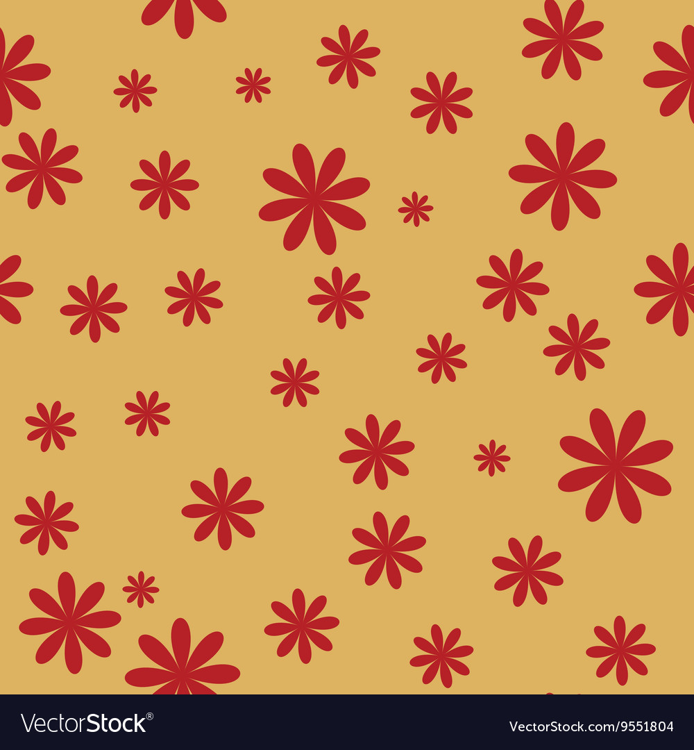 Flower red seamless pattern 2