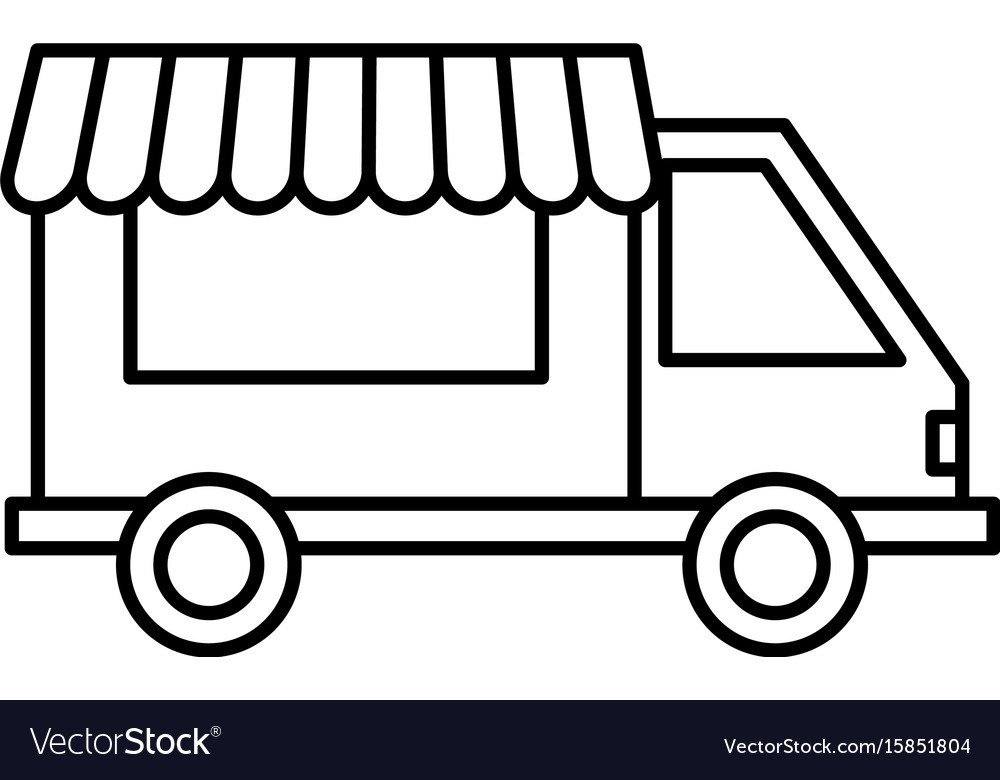 food truck icon royalty free vector image vectorstock rh vectorstock com vector trucking company vector trucking company