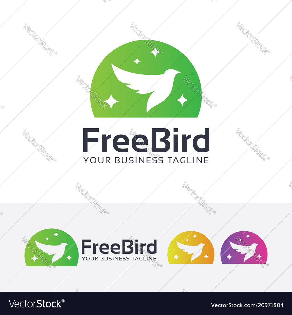 Freedom bird logo design